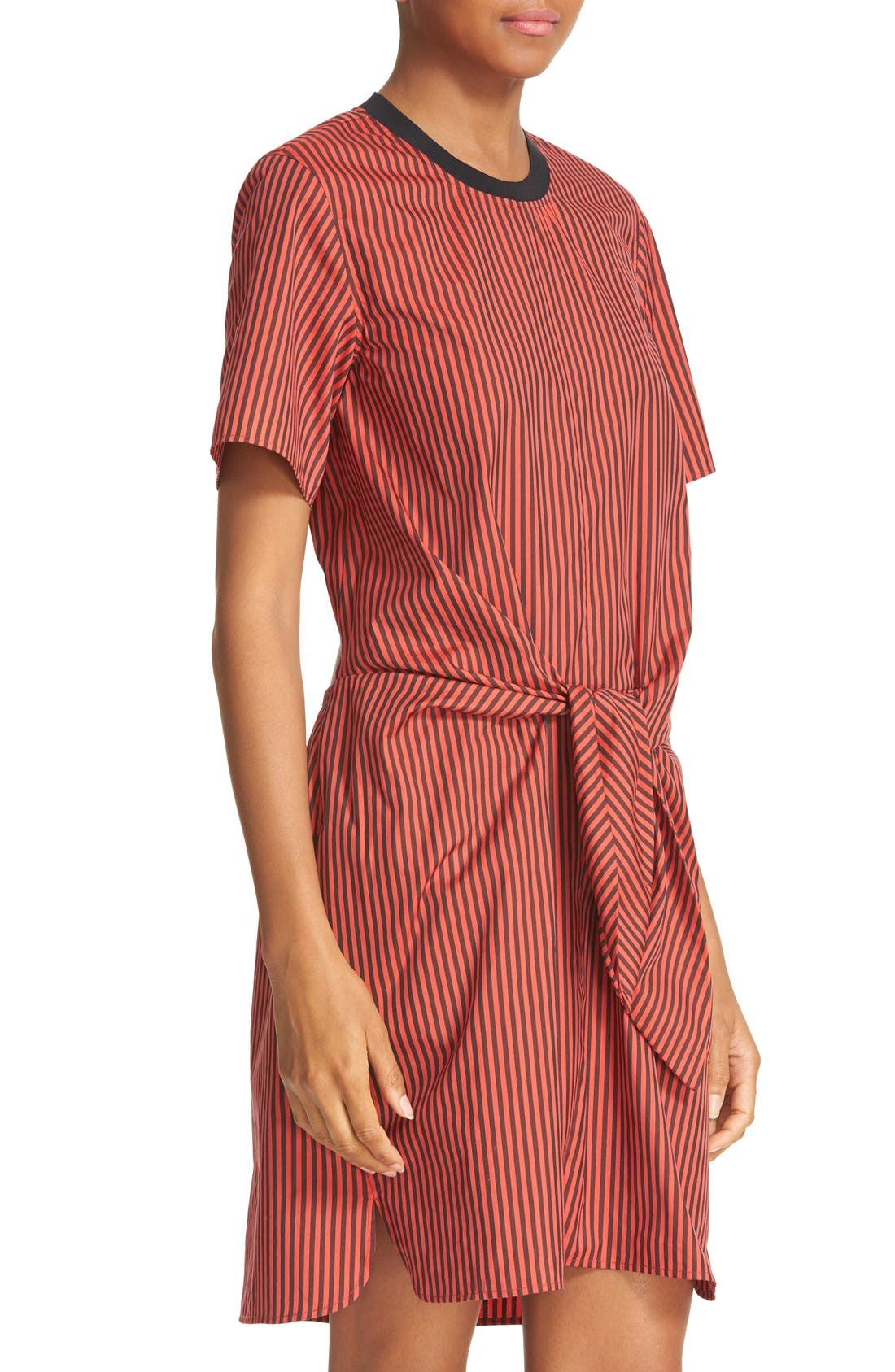 Alternate Image 4  - 3.1 Phillip Lim Stripe Poplin Tie Waist Shirtdress
