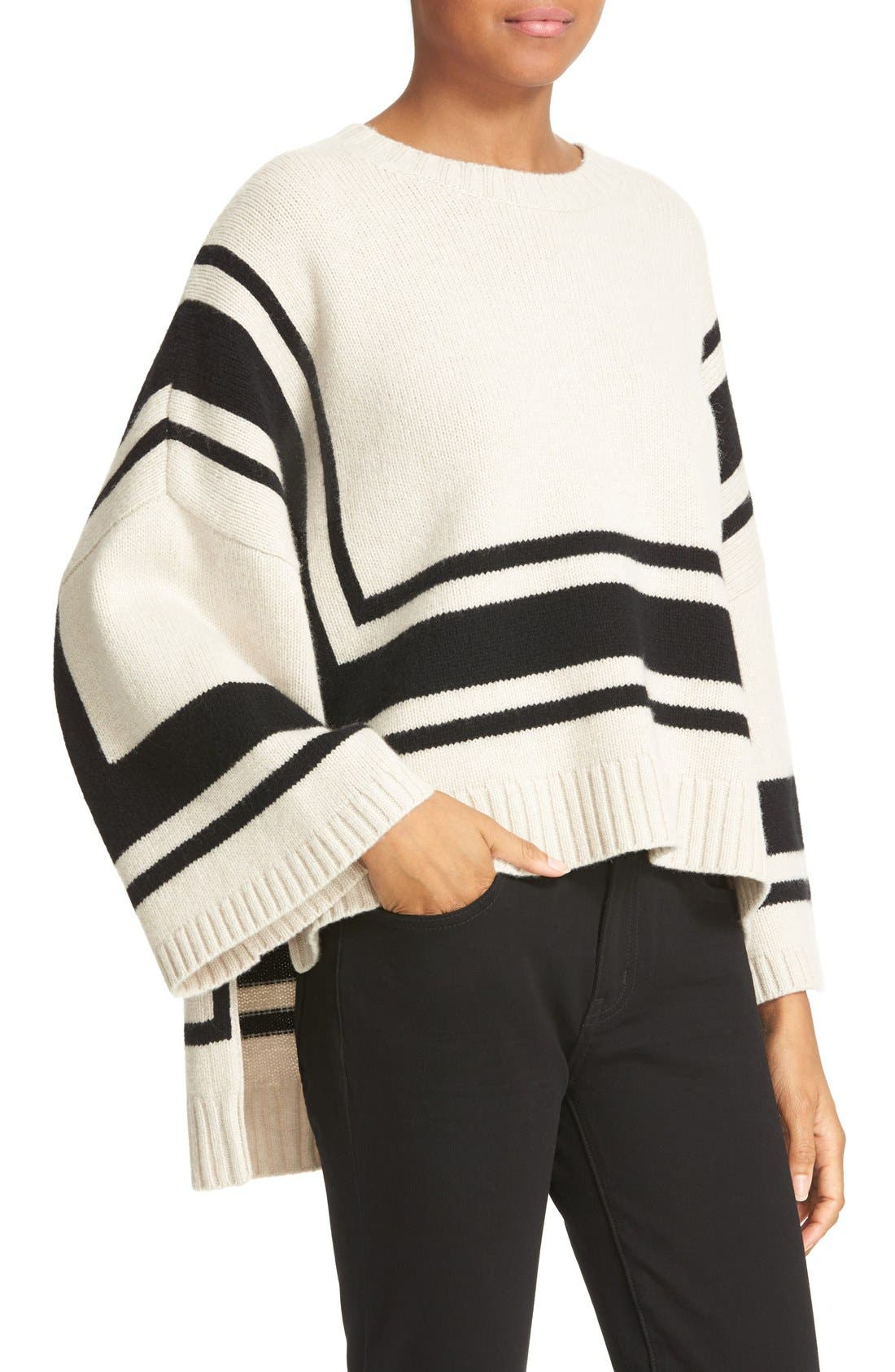 Alternate Image 4  - Derek Lam 10 Crosby Stripe Wool Sweater