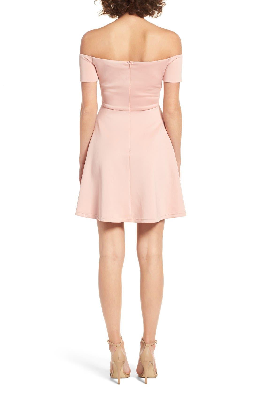 Alternate Image 2  - Cream & Sugar Sweetheart Off the Shoulder Dress