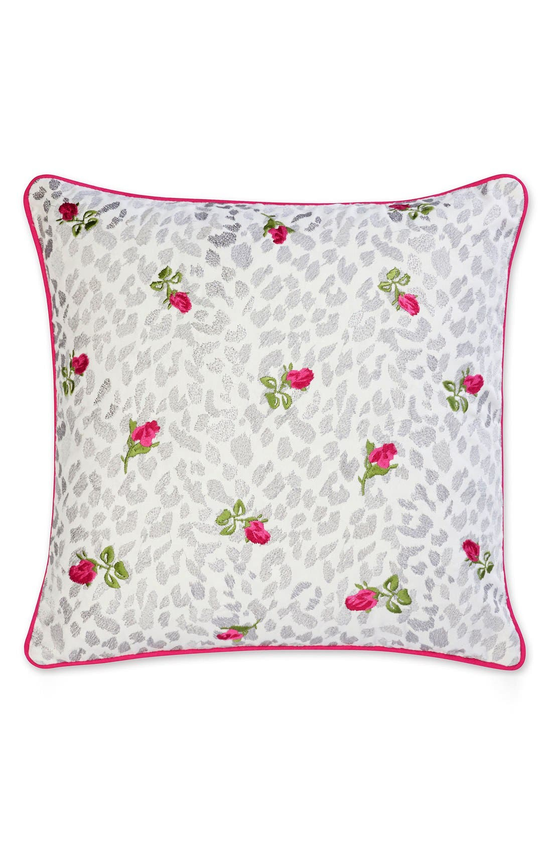 BETSEY JOHNSON BEDDING Polished Punk Leopard Rose Pillow