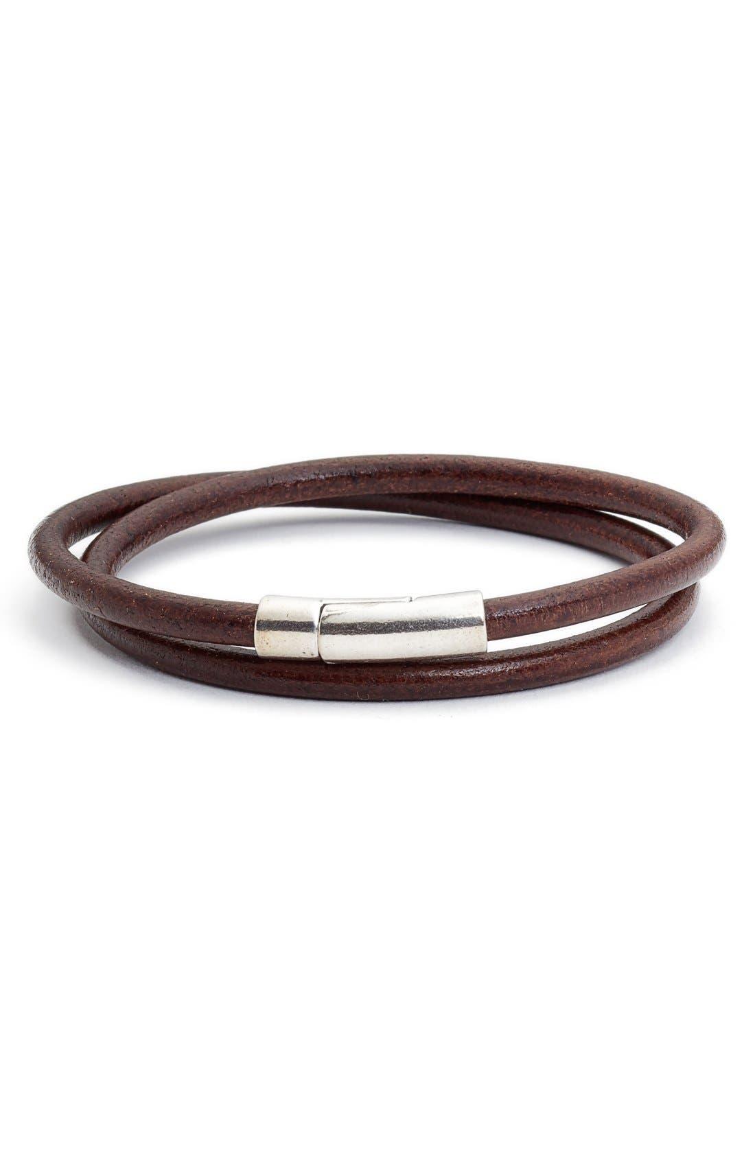 Torino Belts Leather Wrap Bracelet