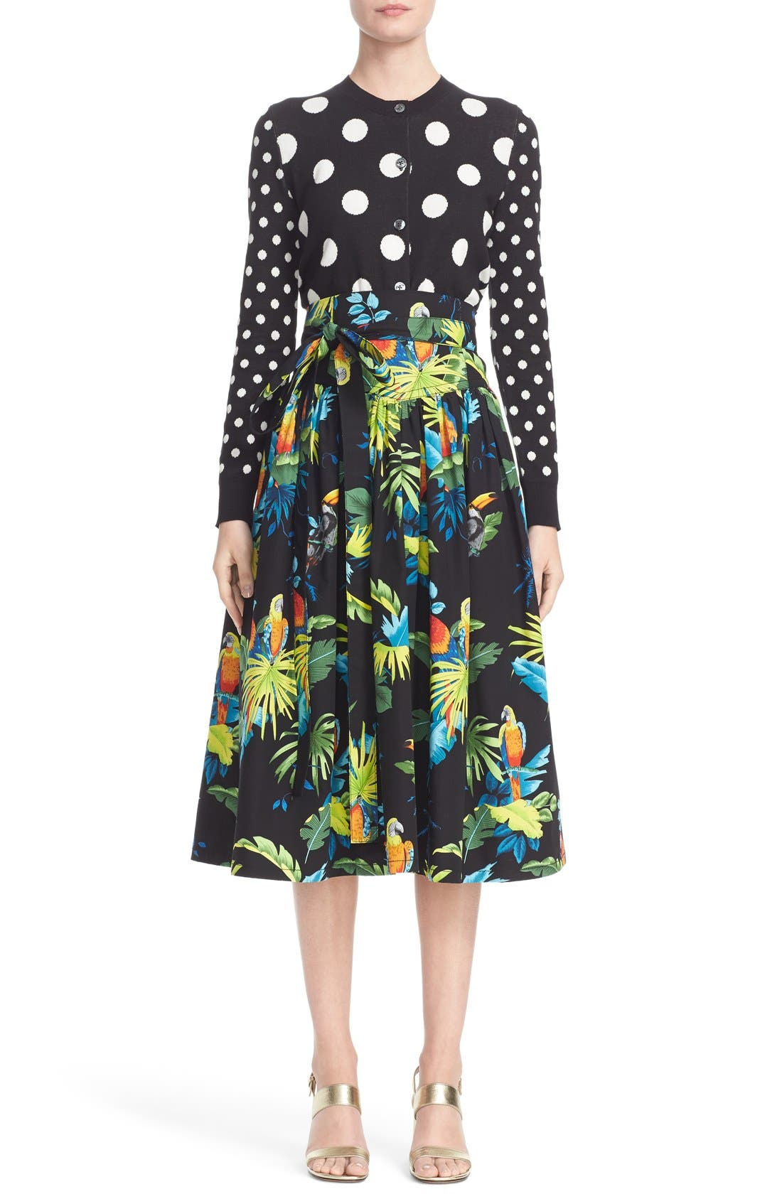 Alternate Image 6  - MARC JACOBS Parrot Print Cotton Poplin Full Skirt