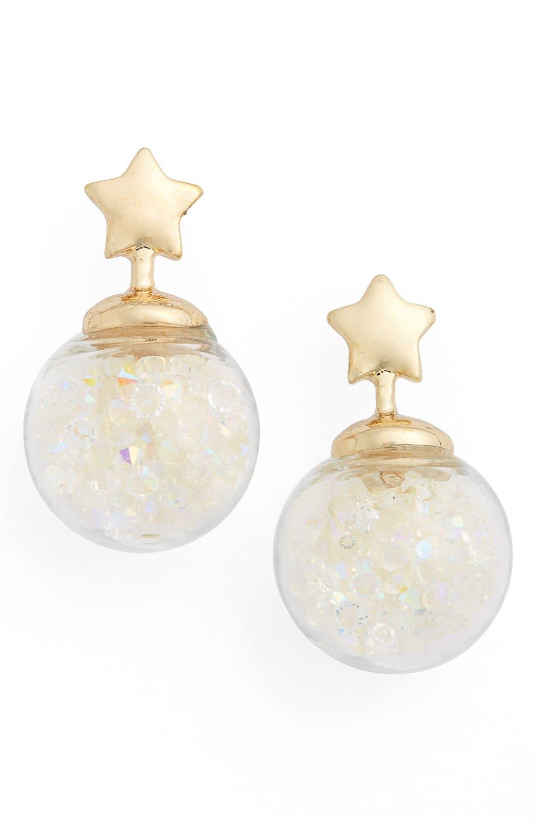 Main Image - Topshop Star Shaker Drop Earrings