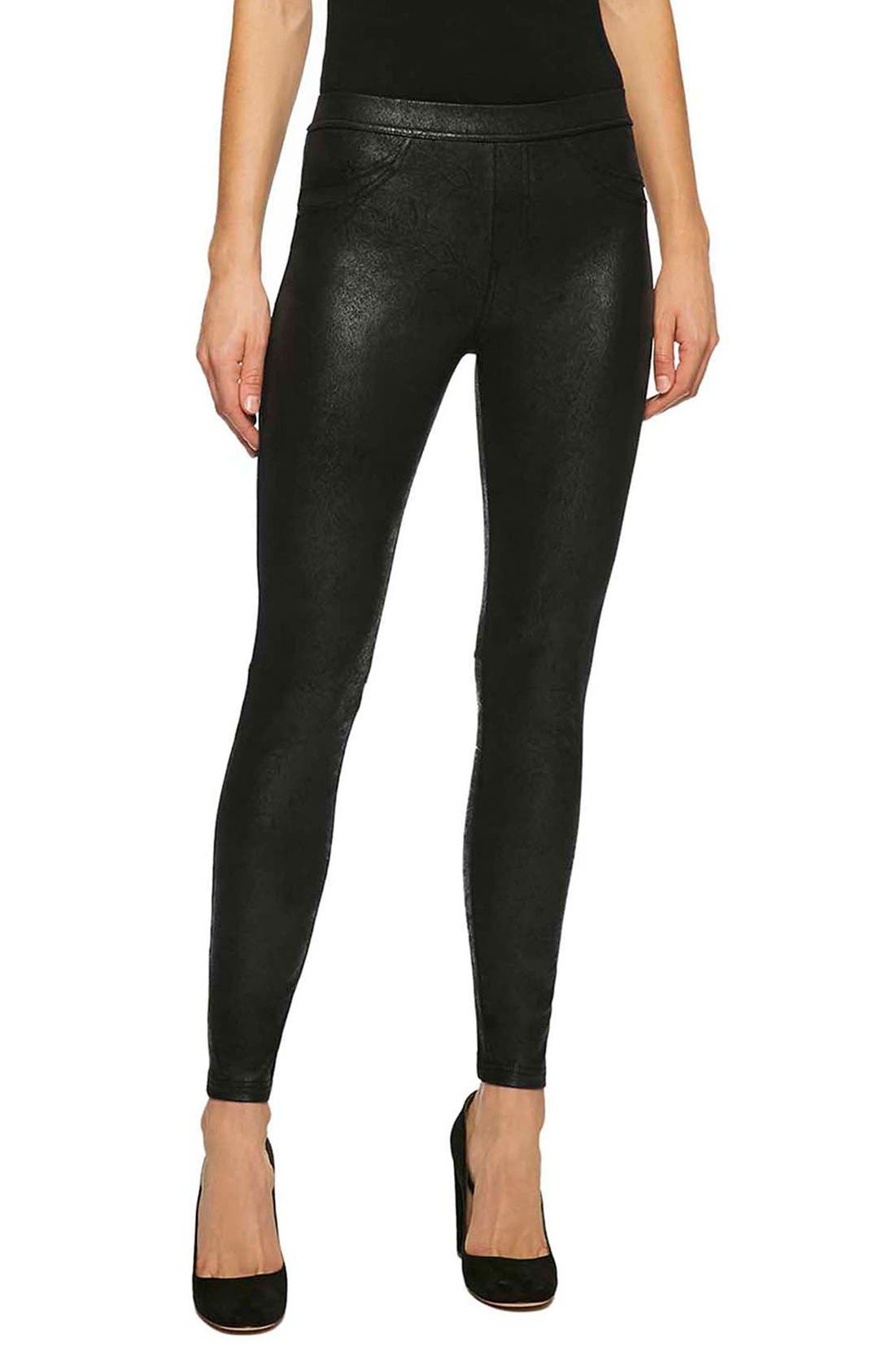 Alternate Image 1 Selected - Sanctuary Grease Leggings (Regular & Petite)