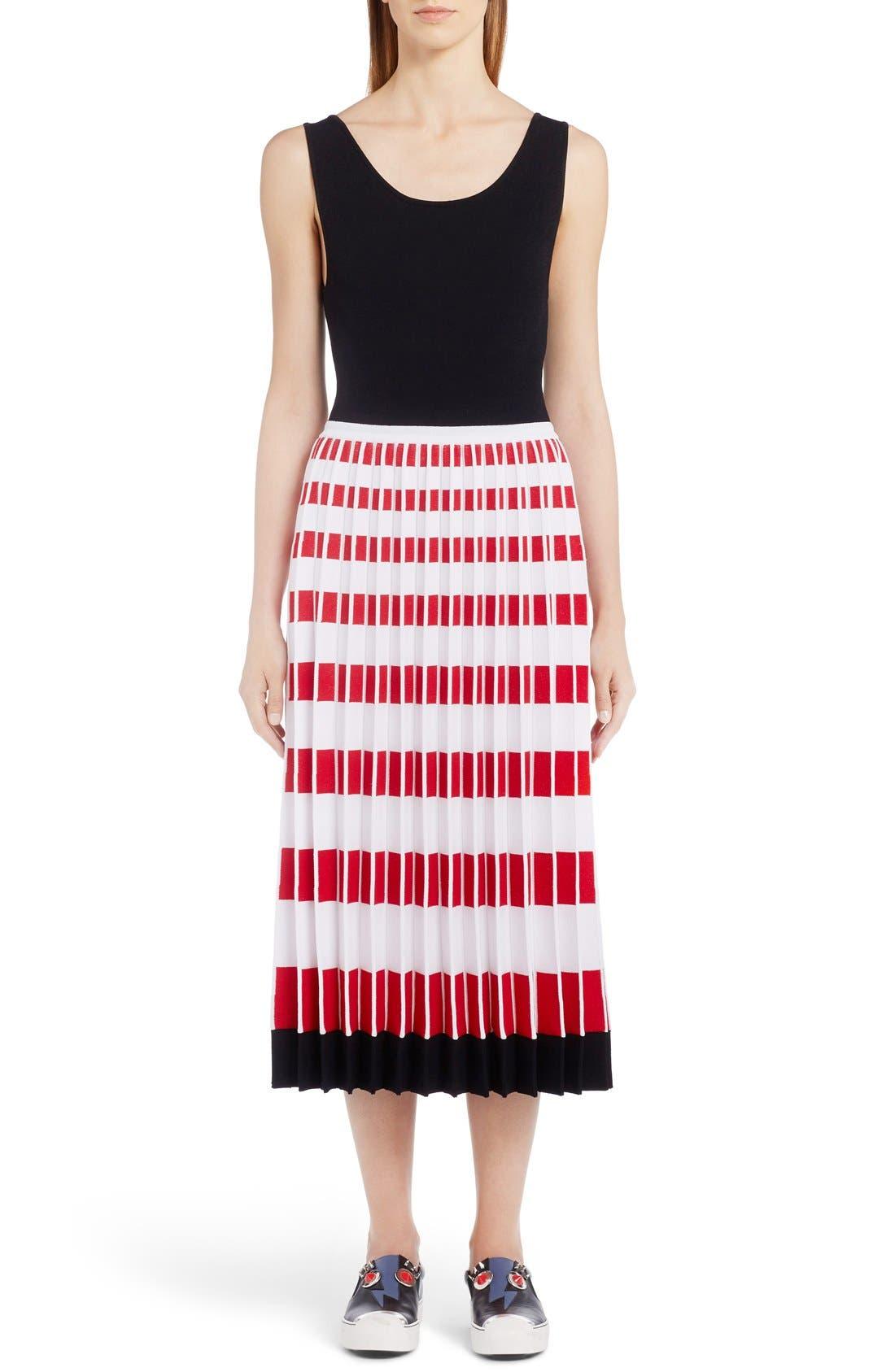 FENDI Kaleidoscope Print Knit Tank Dress