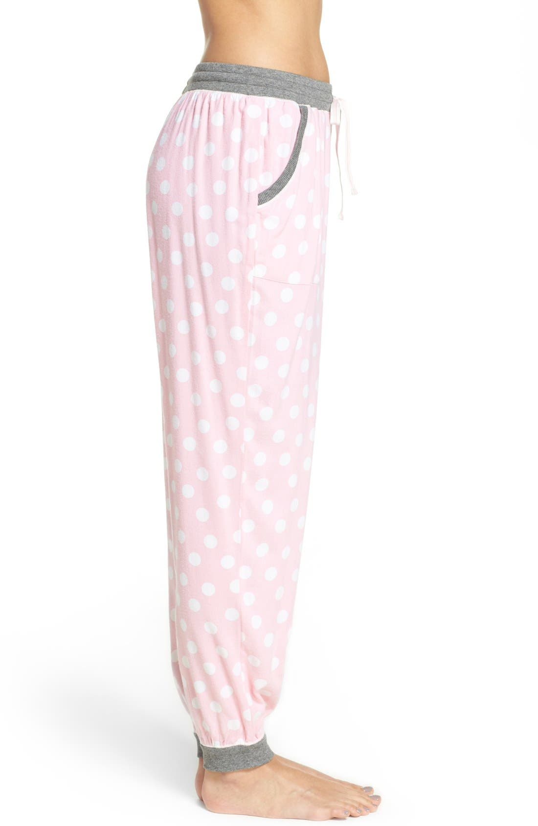 Alternate Image 3  - kensie Jogger Pajama Pants