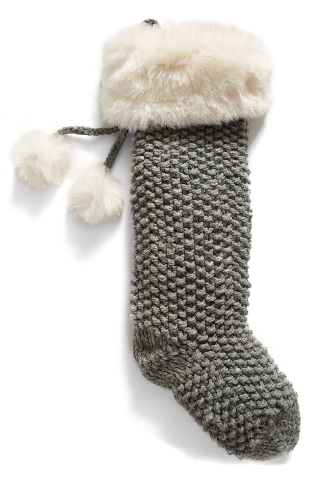 Main Image - Nordstrom at Home Knit Faux Fur Stocking