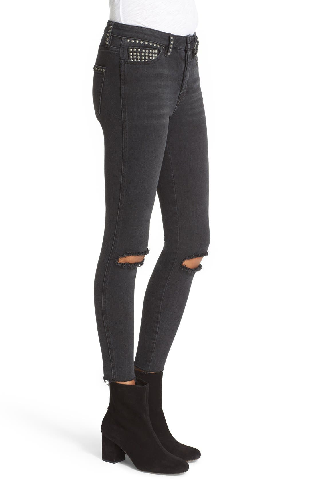 Alternate Image 3  - Free People Ripped Skinny Jeans