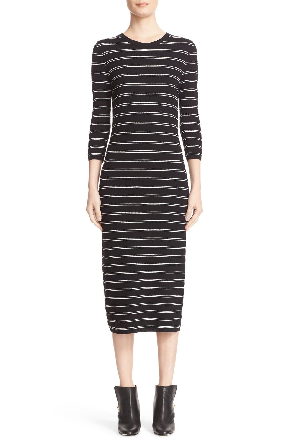 Alternate Image 1 Selected - Theory 'Delissa B' Stripe Textured Knit Maxi Dress