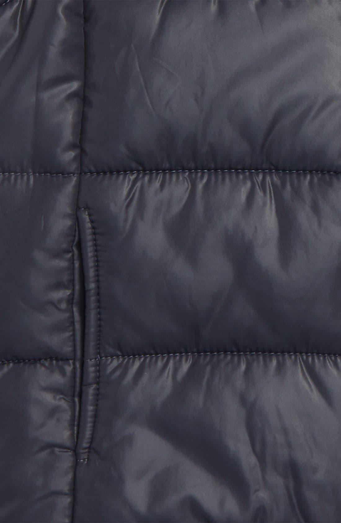 Alternate Image 2  - Zella Girl Quilted Hooded Vest (Little Girls & Big Girls)
