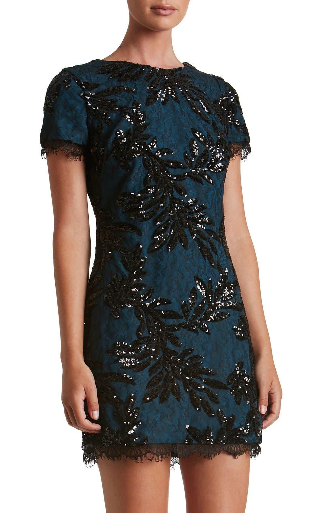 Alternate Image 1 Selected - Dress the Population Valerie Sequin Lace Sheath Dress