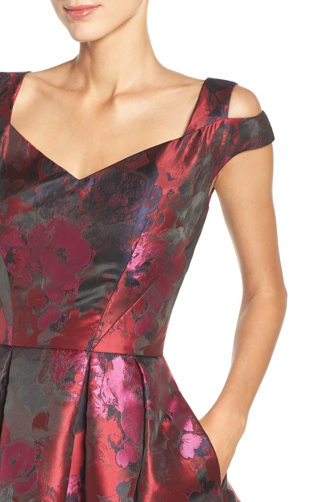 Alternate Image 4  - Maggy London Cold Shoulder Dress (Regular & Petite)