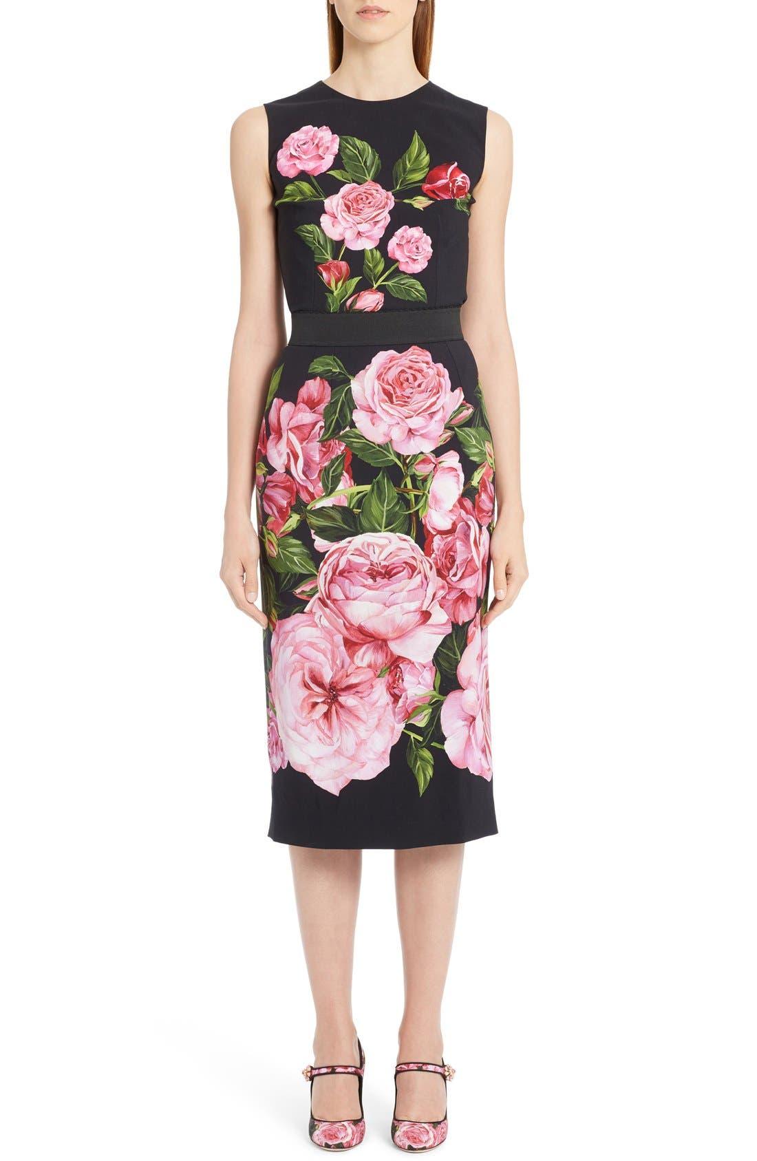Alternate Image 6  - Dolce&Gabbana Rose Print Cady Top