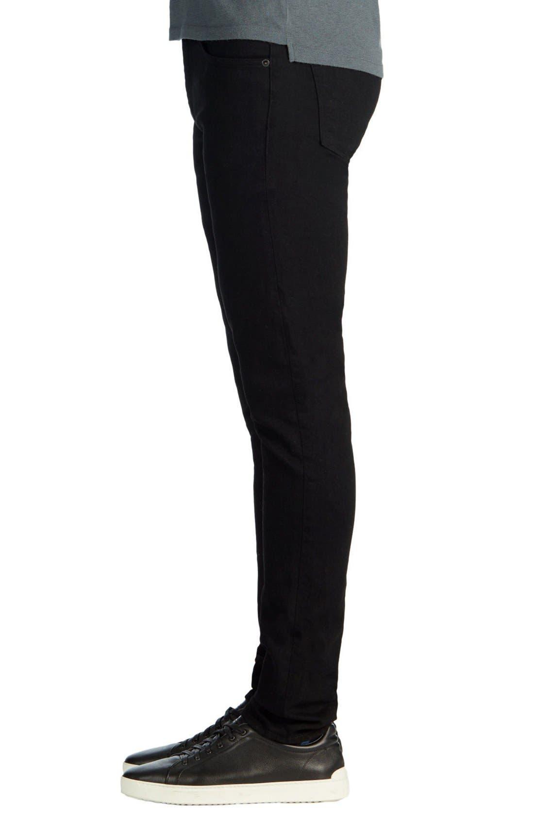 Alternate Image 3  - J Brand Skinny Jeans (Trivor Black)