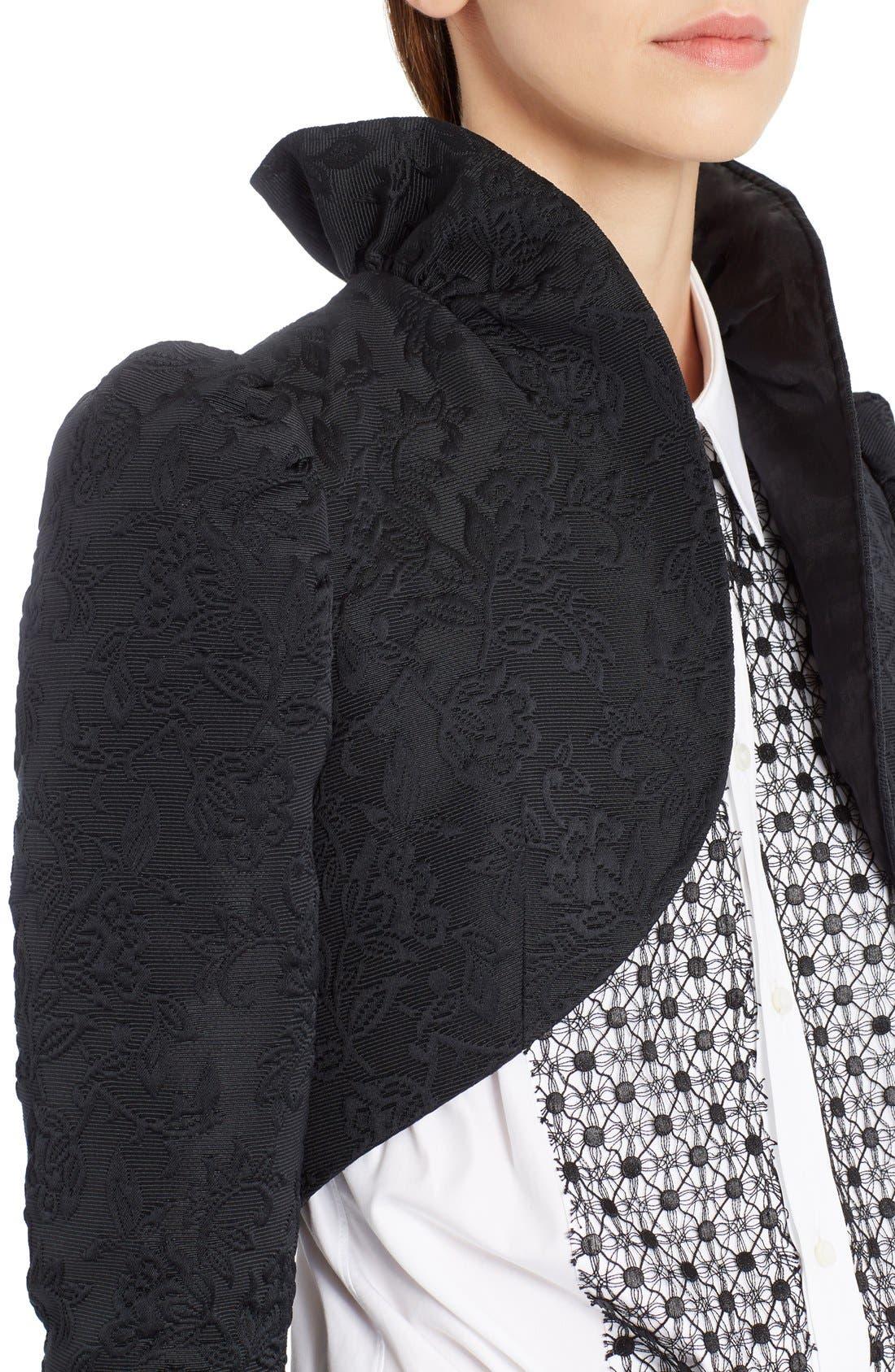 Alternate Image 5  - Dolce&Gabbana Ruffle Jacquard Bolero Jacket