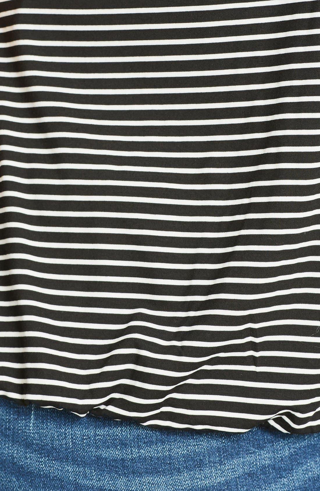 Alternate Image 4  - City Chic Stripe Bubble Hem Camisole (Plus Size)
