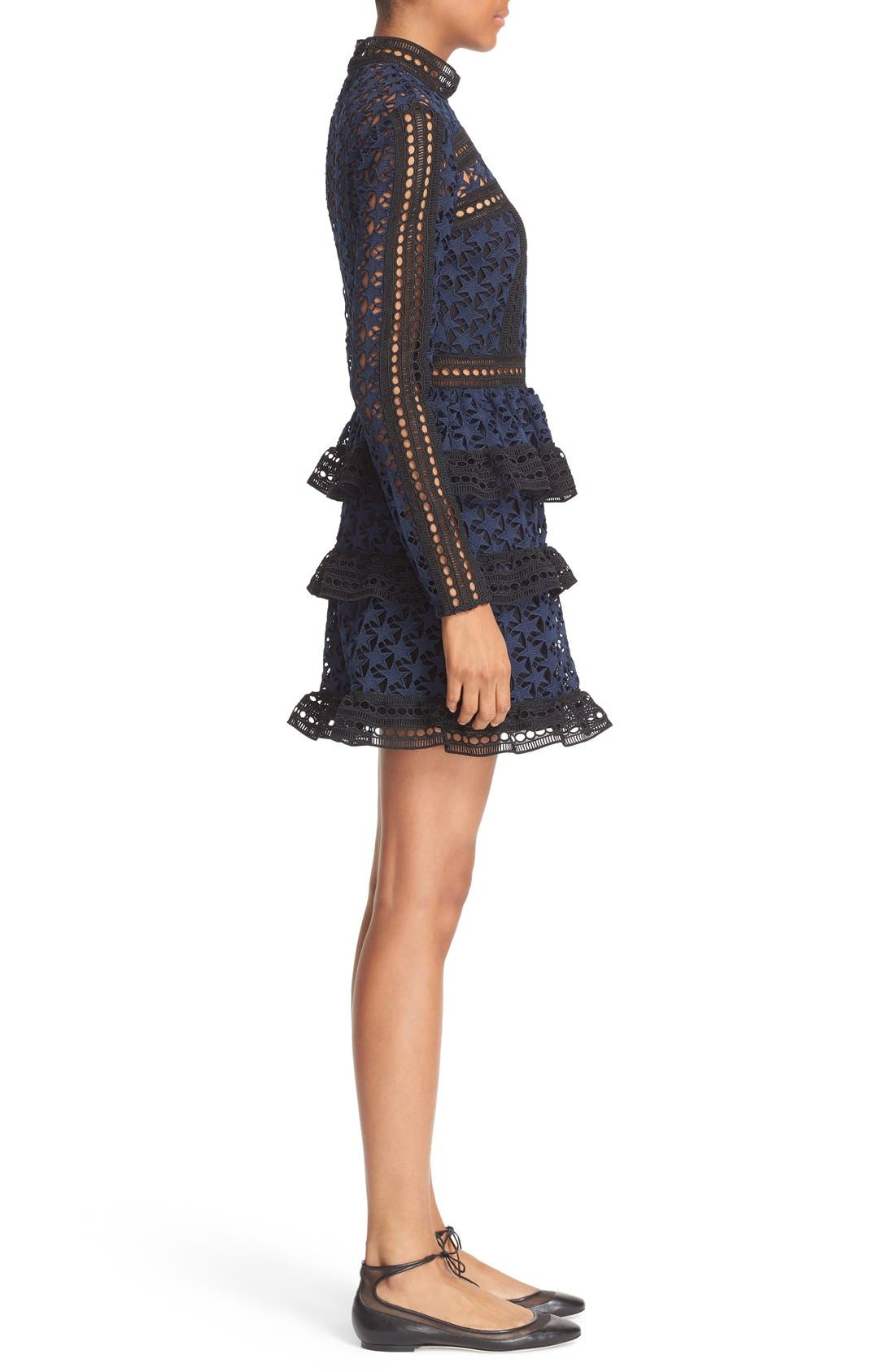 Alternate Image 3  - Self-Portrait Star Lace Tiered Minidress