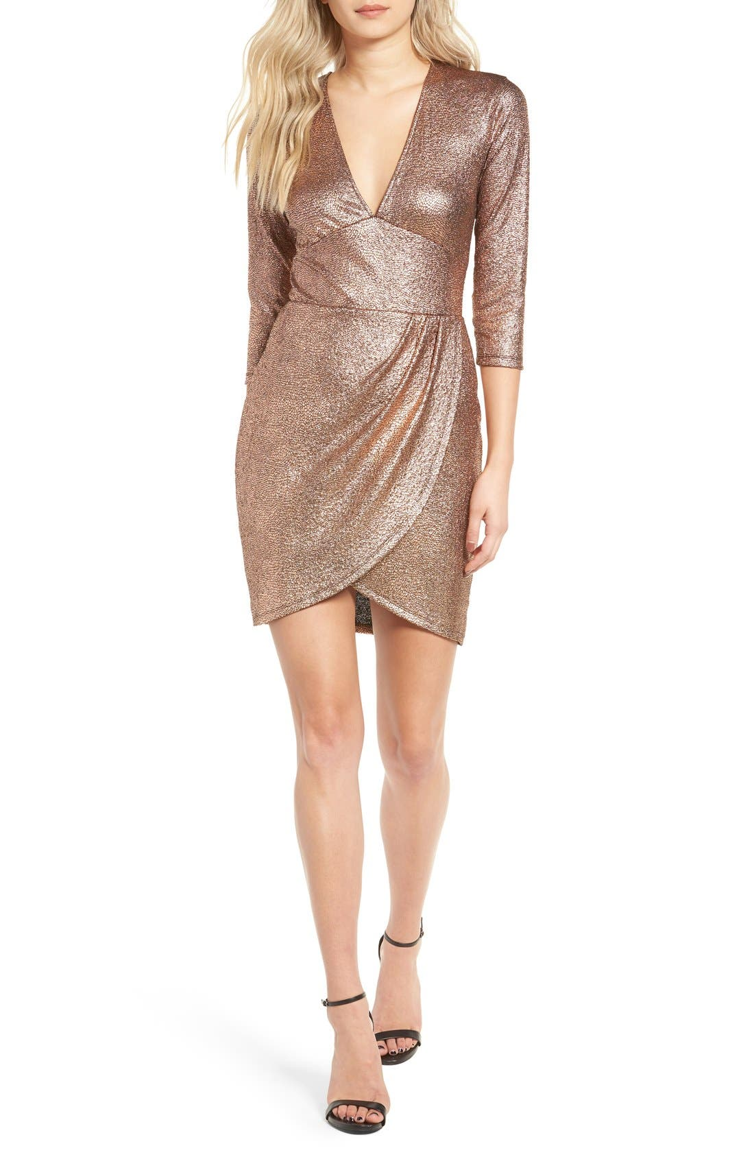 Alternate Image 1 Selected - Leith Metallic Body-Con Dress