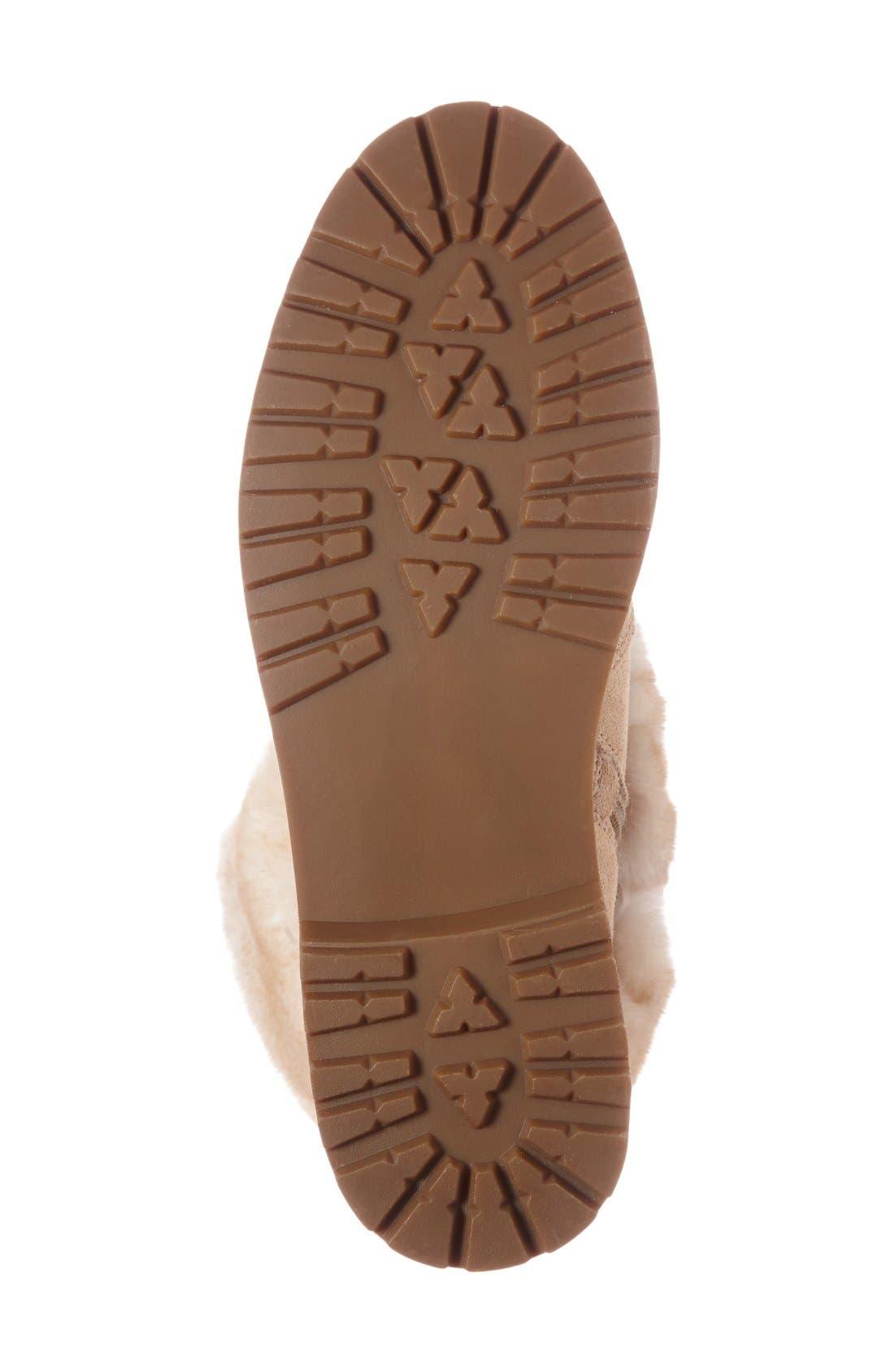 Alternate Image 4  - Arturo Chiang 'Philippa' Genuine Rabbit Fur Hiking Boot (Women)