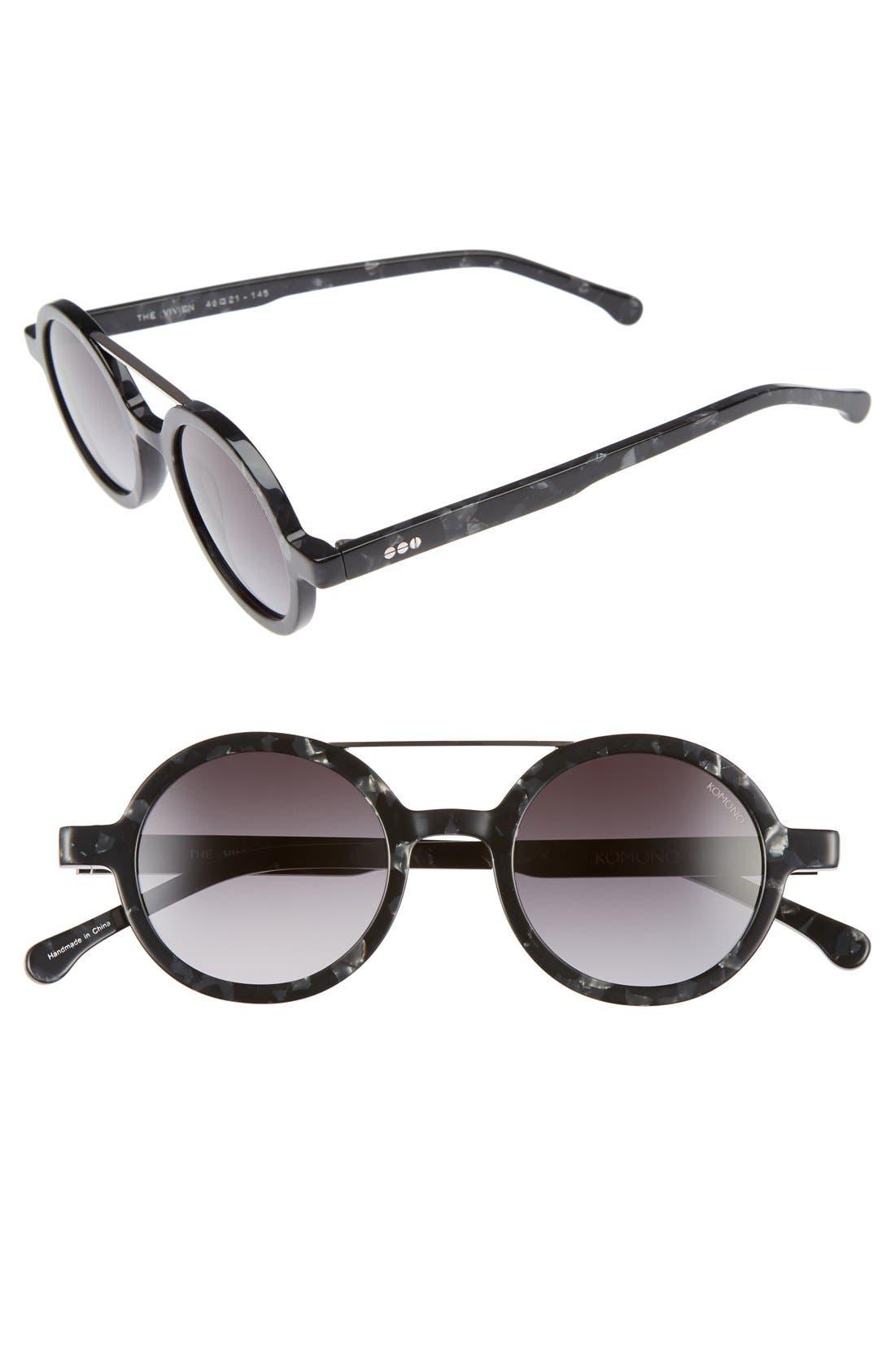 KOMONO Vivien 46mm Round Sunglasses