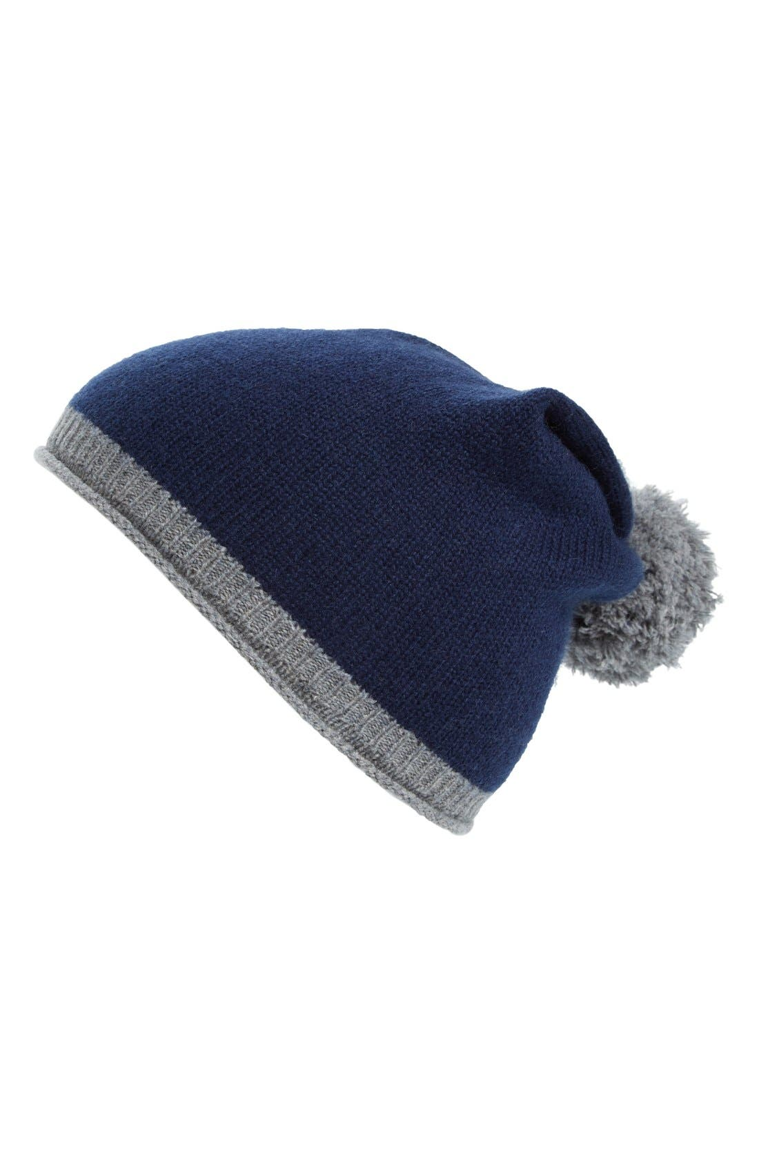 Alternate Image 1 Selected - Halogen® Slouchy Pom Beanie