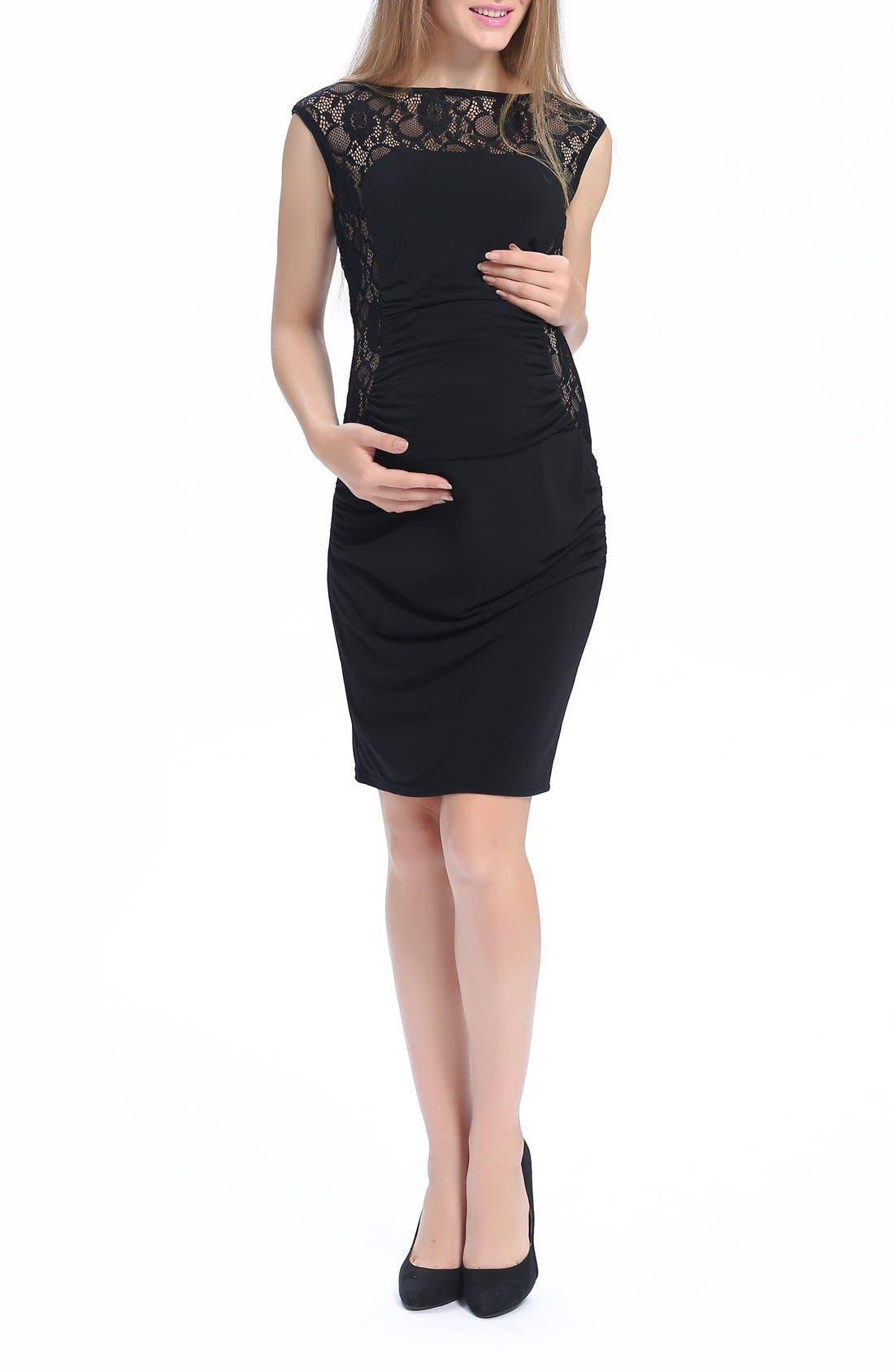 Alternate Image 1 Selected - Kimi and Kai Valentina Lace Maternity Dress