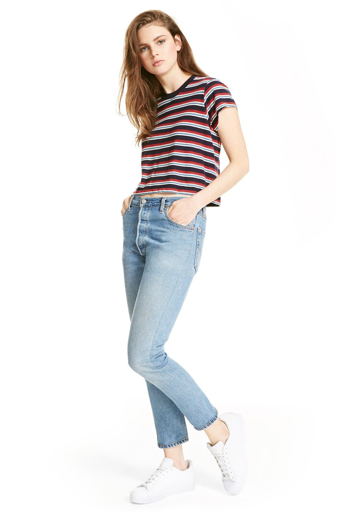 Alternate Image 2  - Re/Done Reconstructed High Waist Ankle Crop Jeans