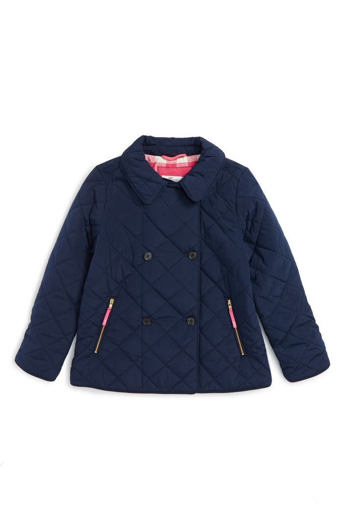 Vineyard Vines Quilted Barn Coat Big Girls Nordstrom
