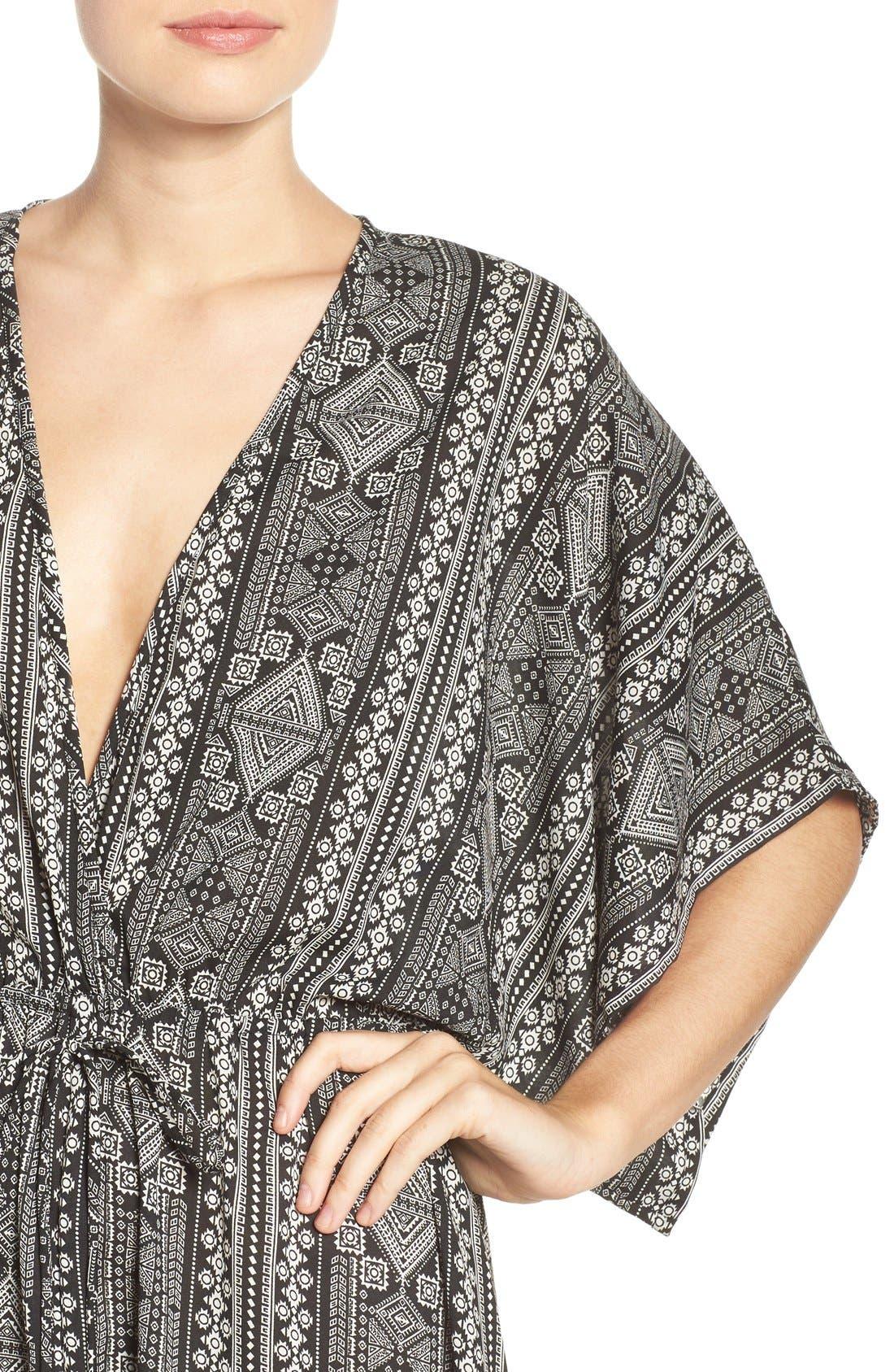 Alternate Image 4  - ElanPrint Woven Cover-Up Caftan Maxi Dress
