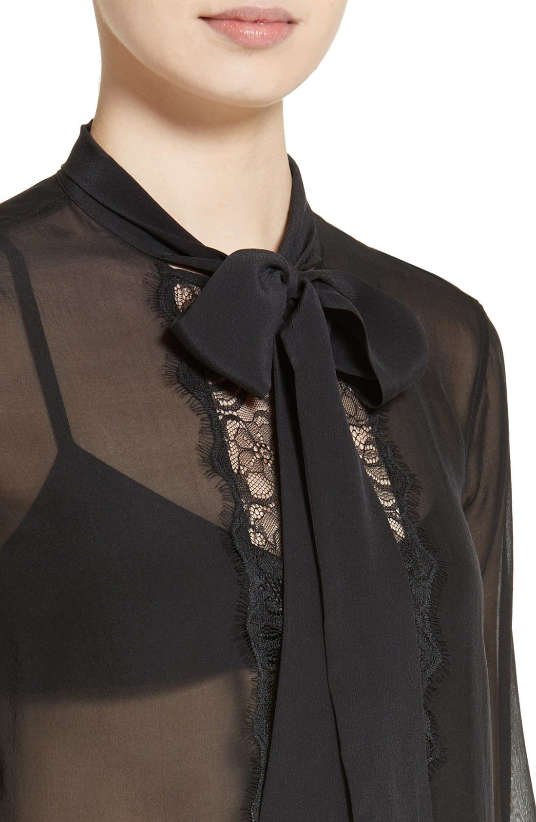 Alternate Image 4  - Equipment Leema Tie Neck Silk Blouse