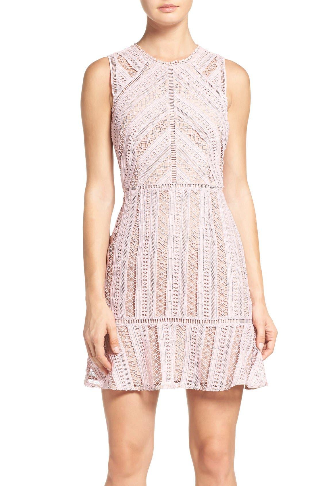 Main Image - Greylin Lace Fit & Flare Dress