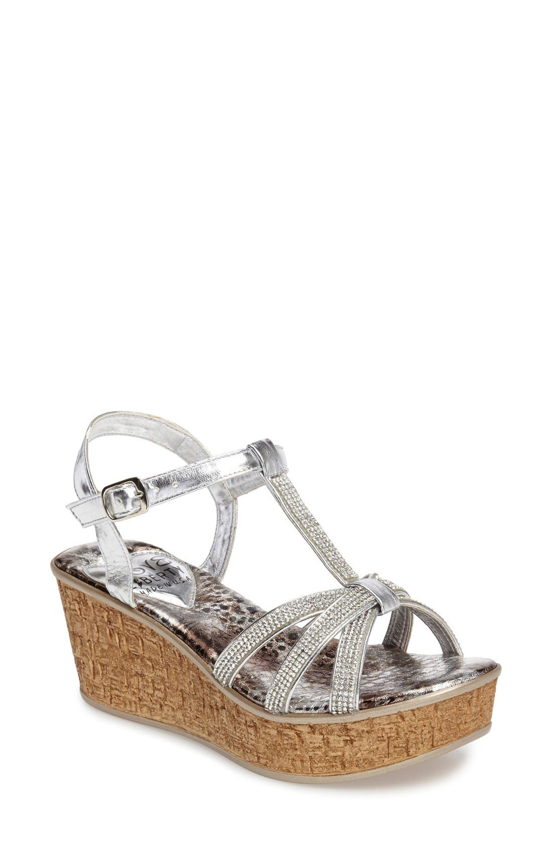 Love and Liberty Caron Crystal Embellished Platform Wedge (Women)
