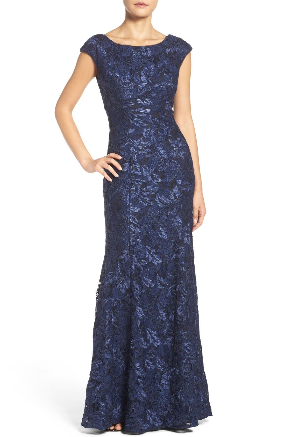 Alternate Image 1 Selected - Xscape Embroidered Lace Mermaid Gown (Regular & Petite)