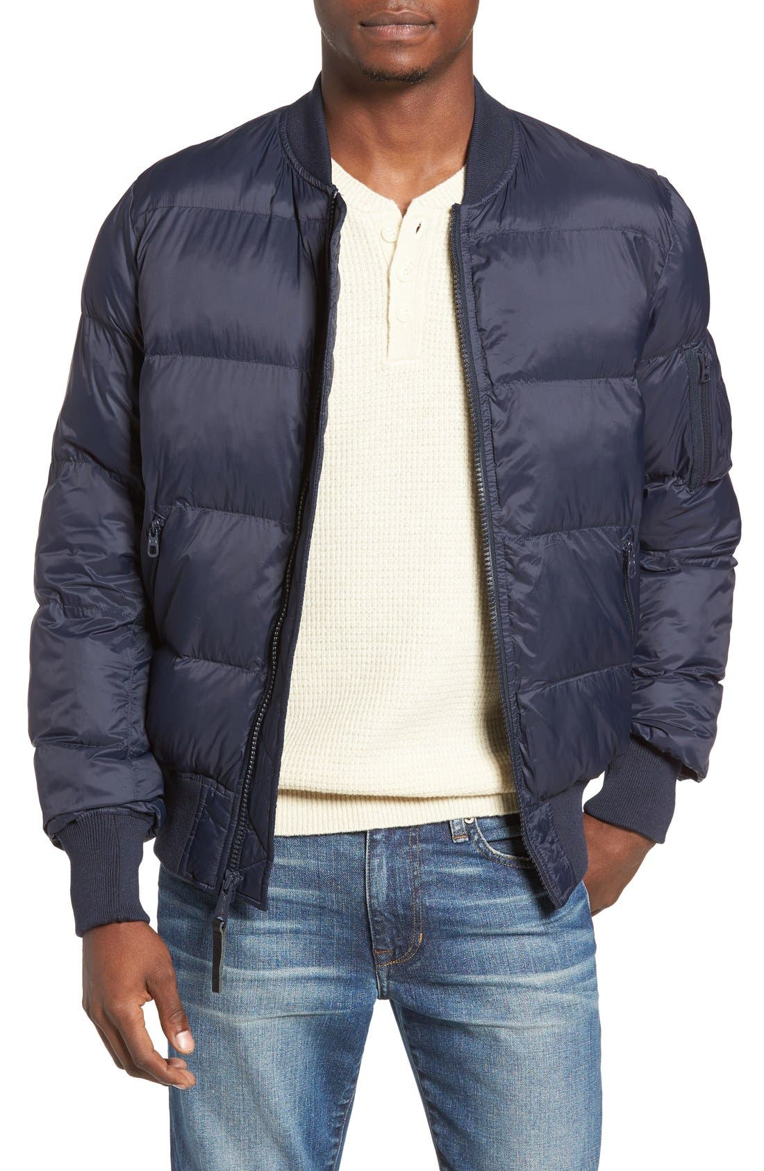 Alpha MA-1 Echo Quilted Jacket