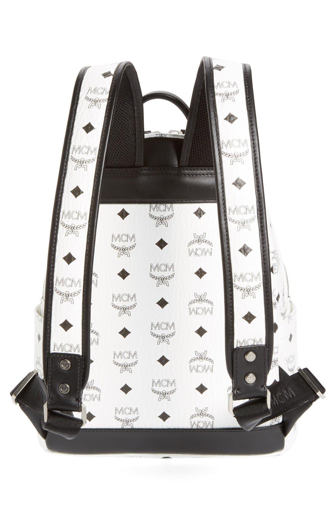 Alternate Image 3  - MCM 'Small Stark - Visetos' Studded Backpack