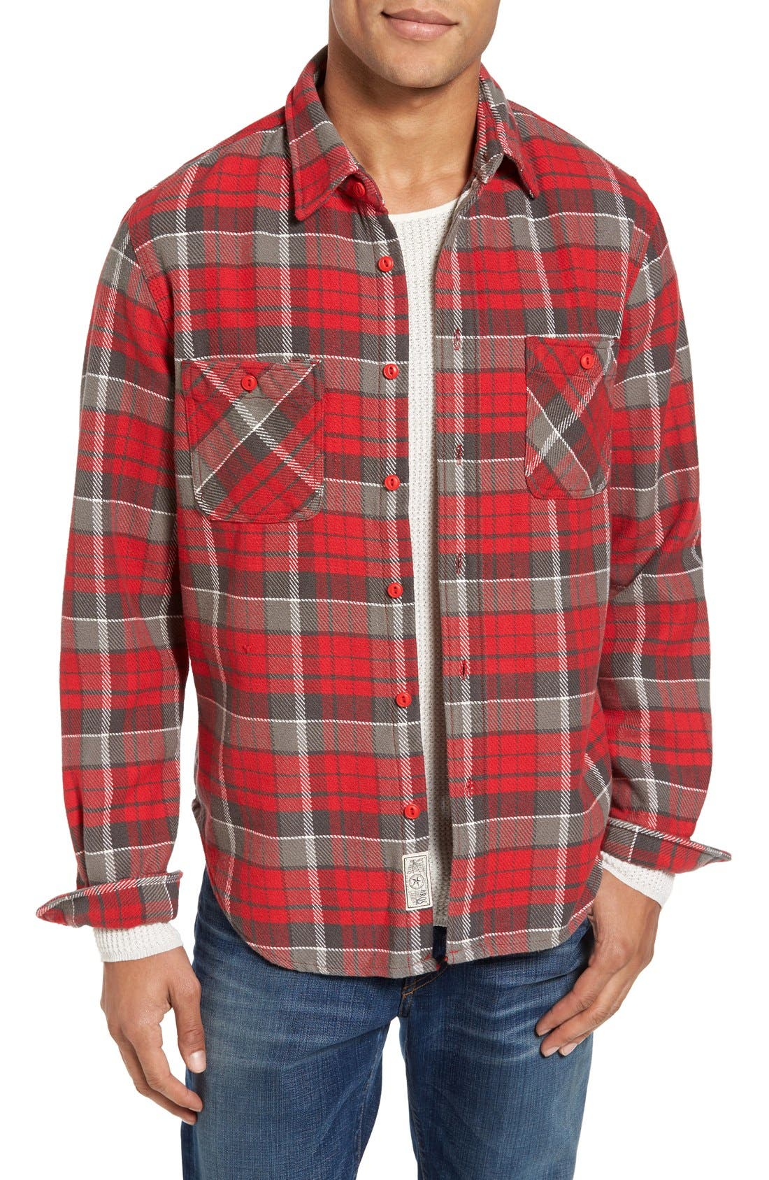 Schott NYC Classic Fit Plaid Flannel Shirt