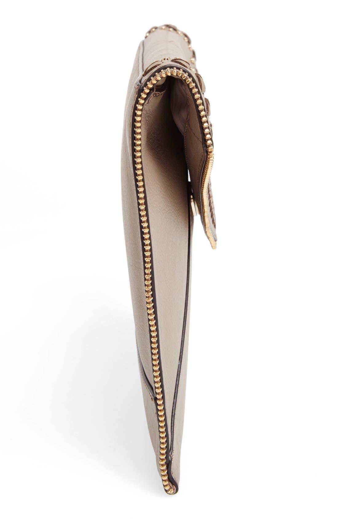 Alternate Image 4  - Rebecca Minkoff 'Whipstitch Leo' Leather Clutch
