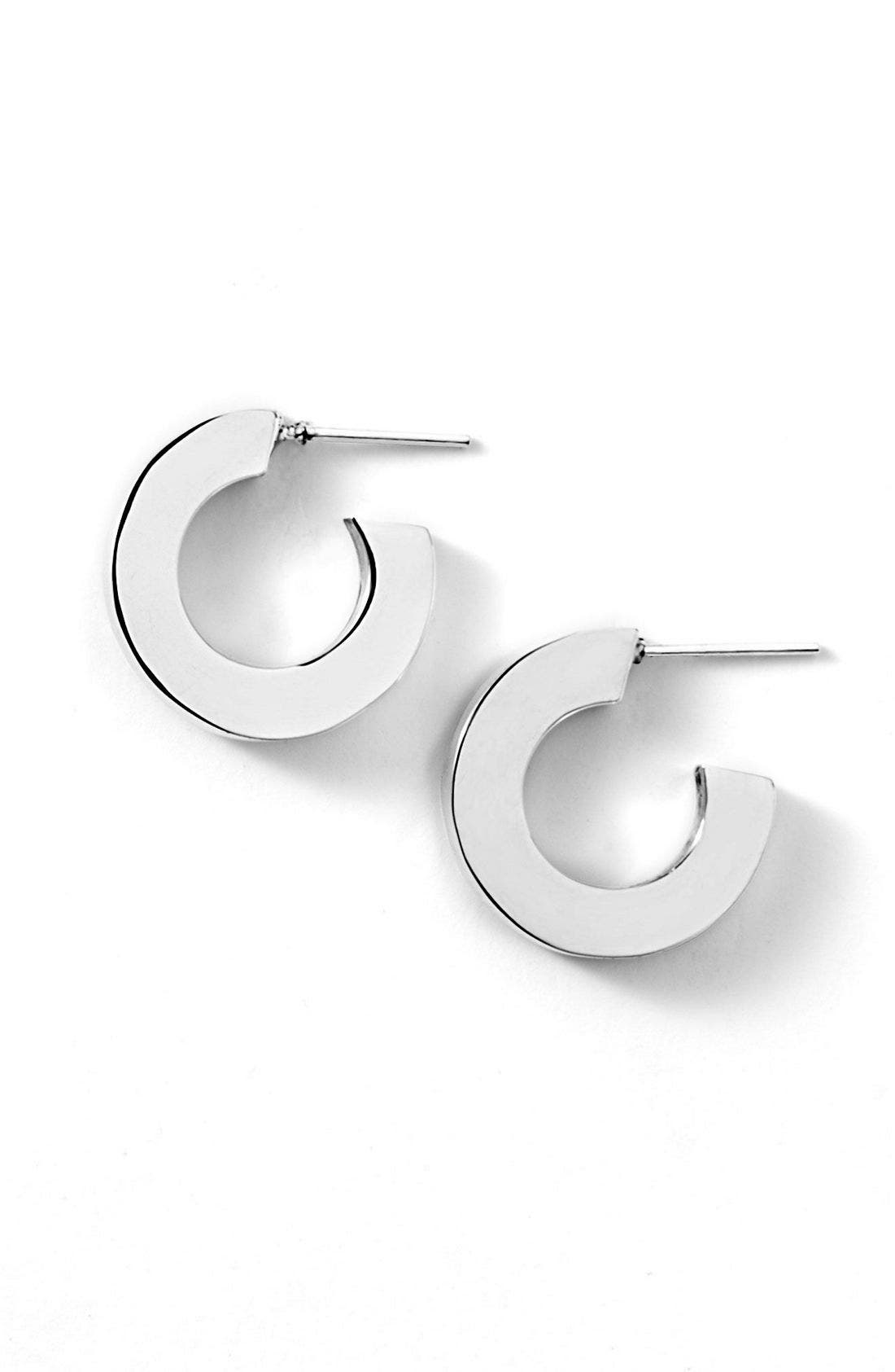 Alternate Image 1 Selected - Argento Vivo Small Square Edge Hoops