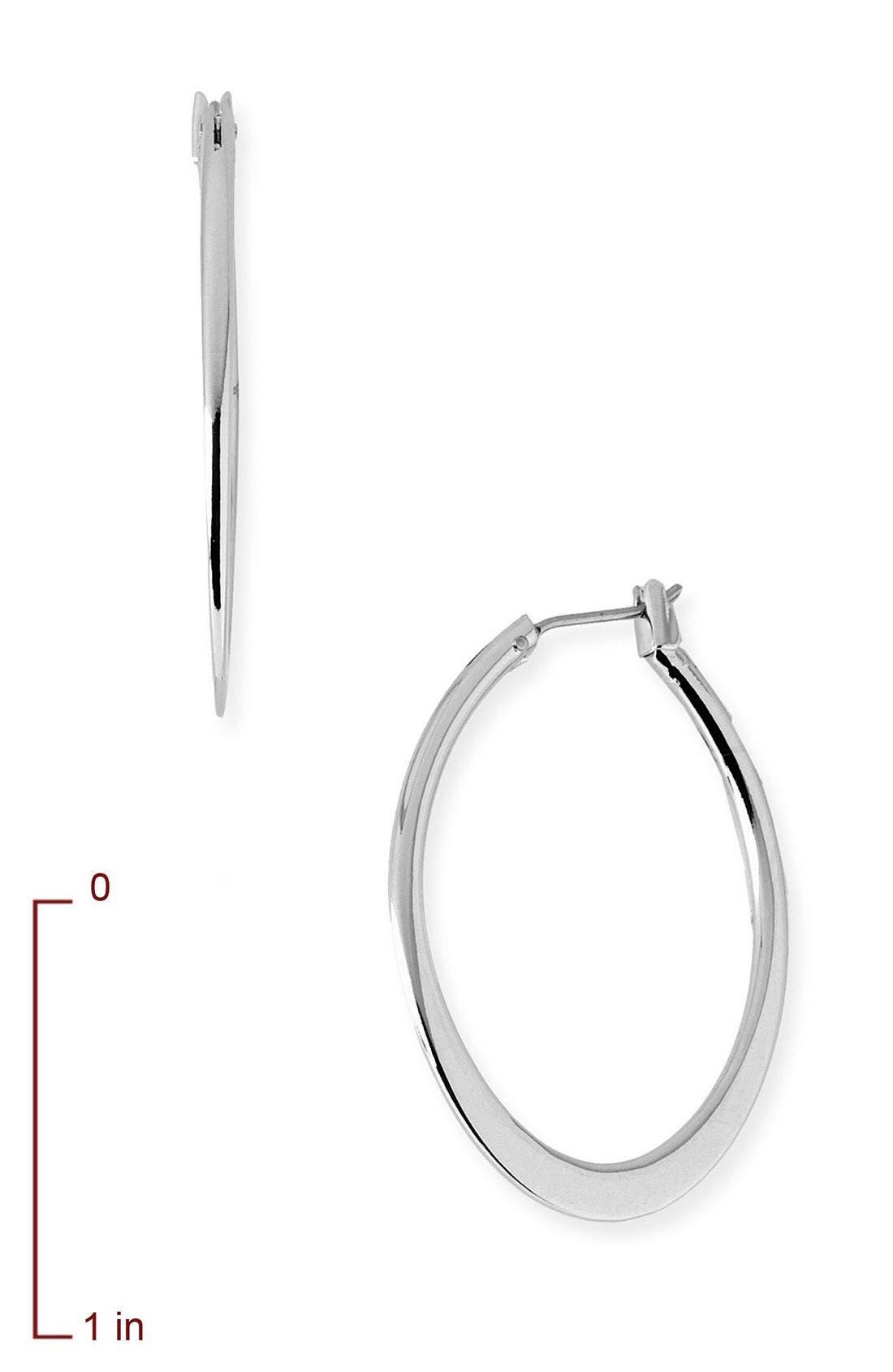 Alternate Image 2  - Nordstrom Large Flat Oval Hoop Earrings