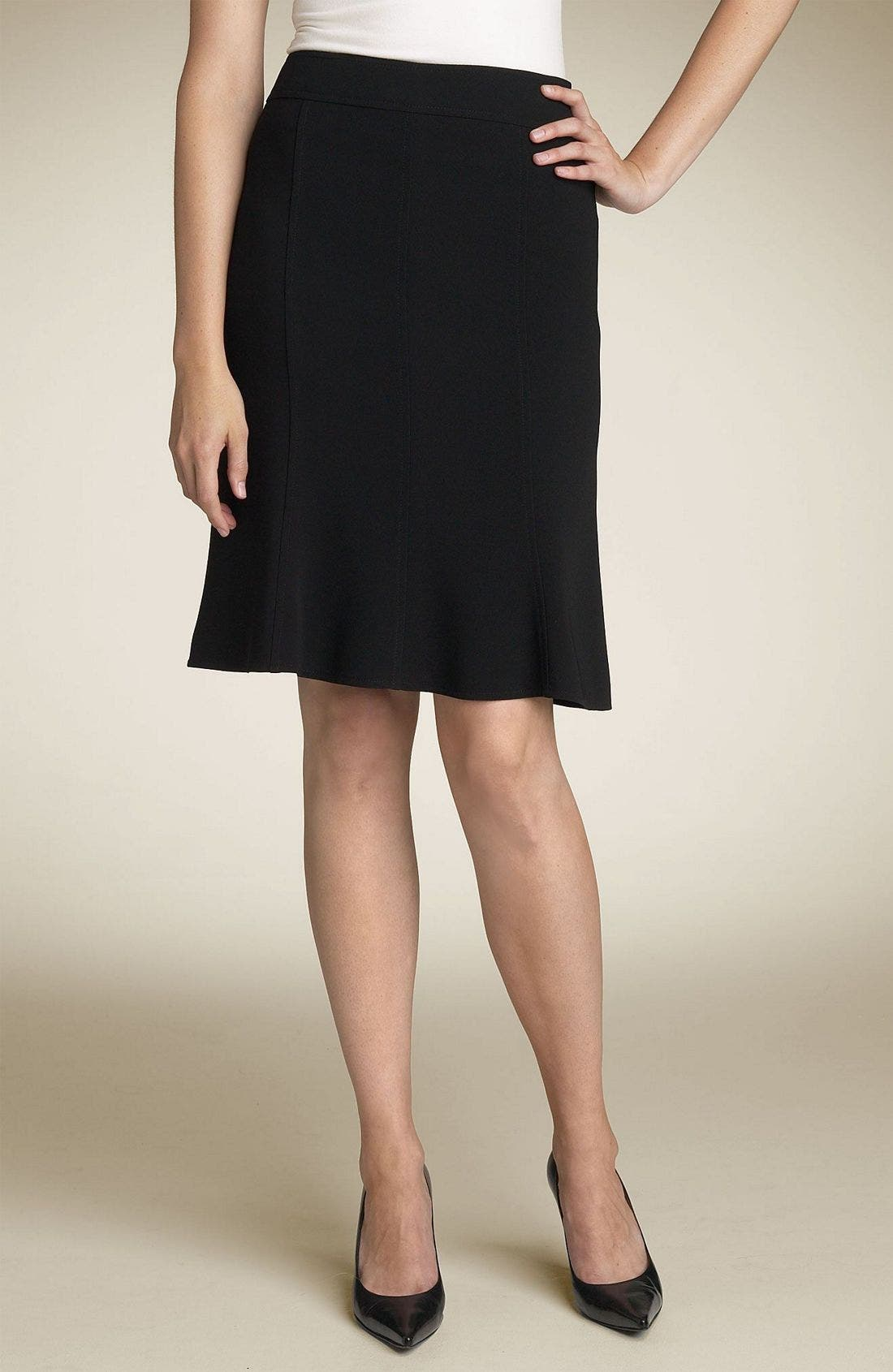 Alternate Image 1 Selected - Louben Panel Skirt (Petite)