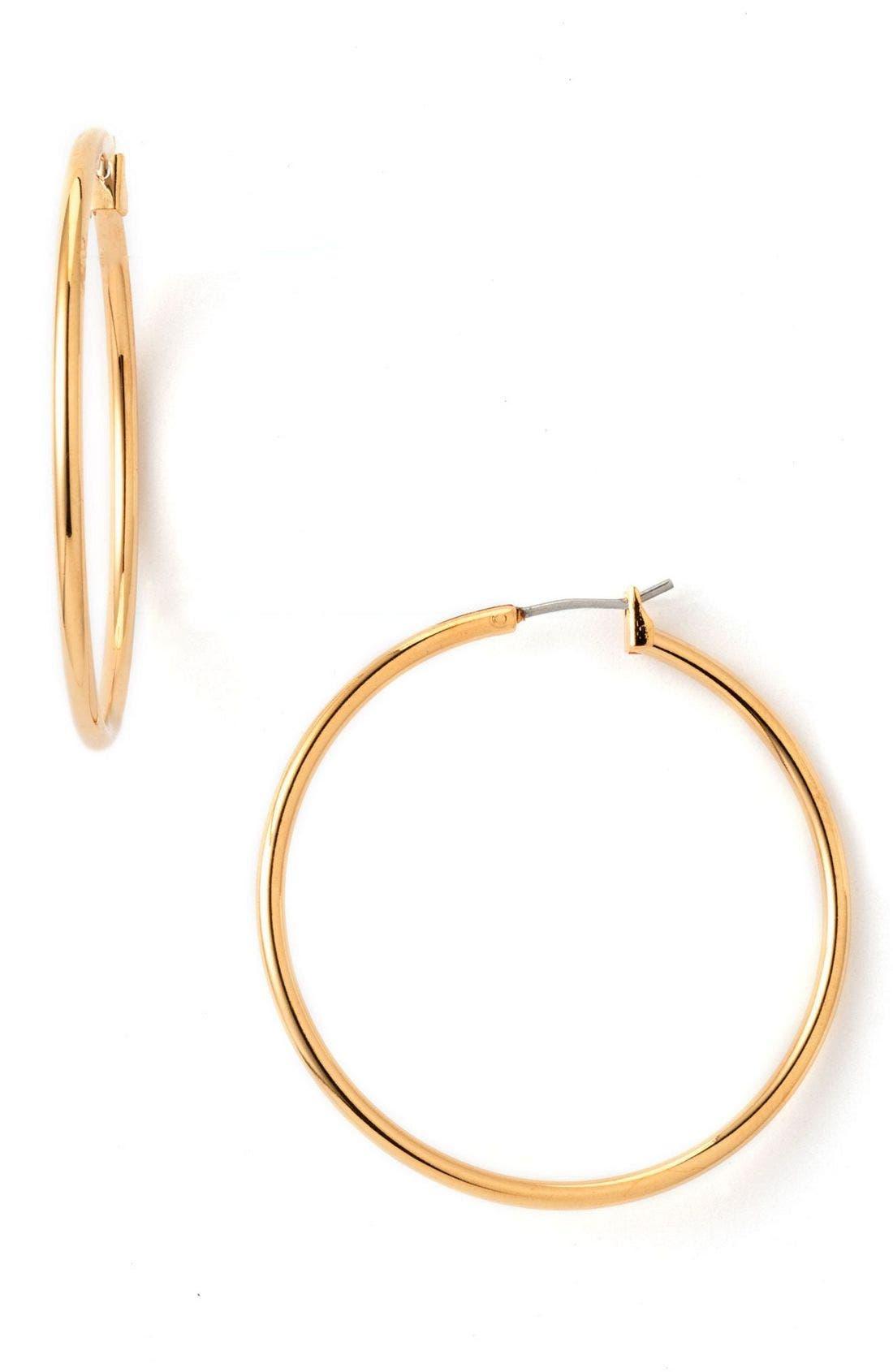 Alternate Image 1 Selected - Nordstrom Classic Hoop Earrings (Nordstrom Exclusive)