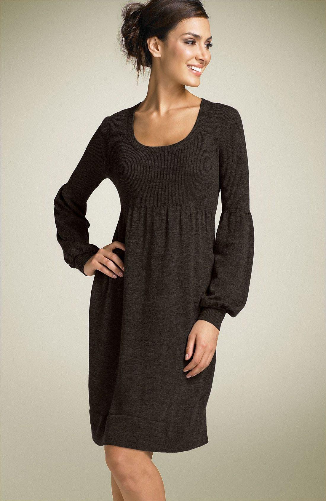 Main Image - Calvin Klein Scoop Neck Sweater Dress