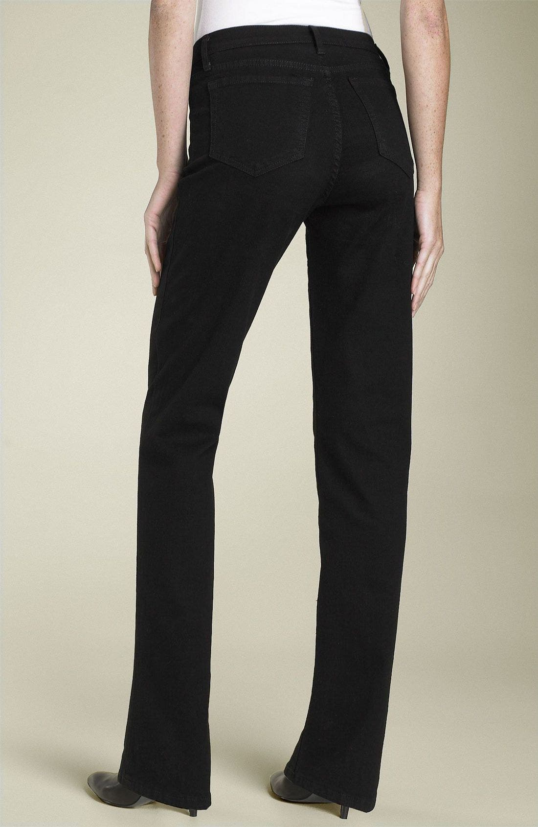 Alternate Image 1 Selected - NYDJ Stretch Straight Leg Jeans (Petite)