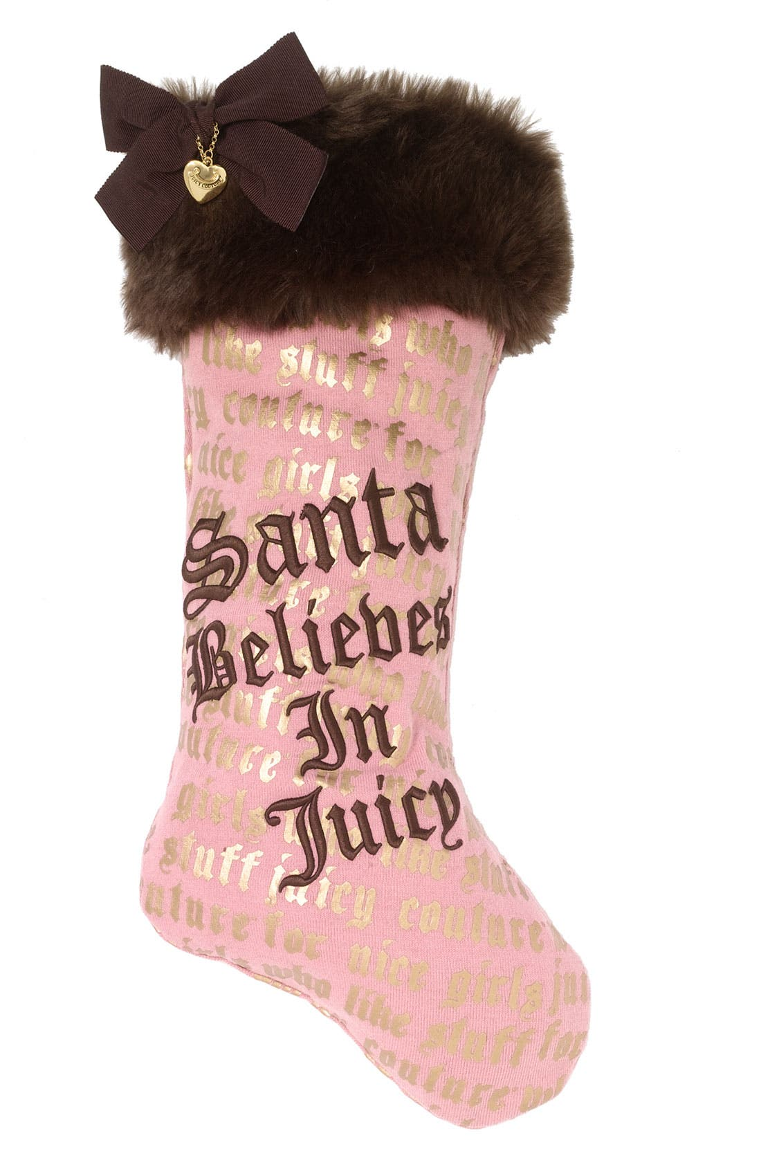 Main Image - Juicy Couture 'Santa Believes in Juicy' Holiday Stocking