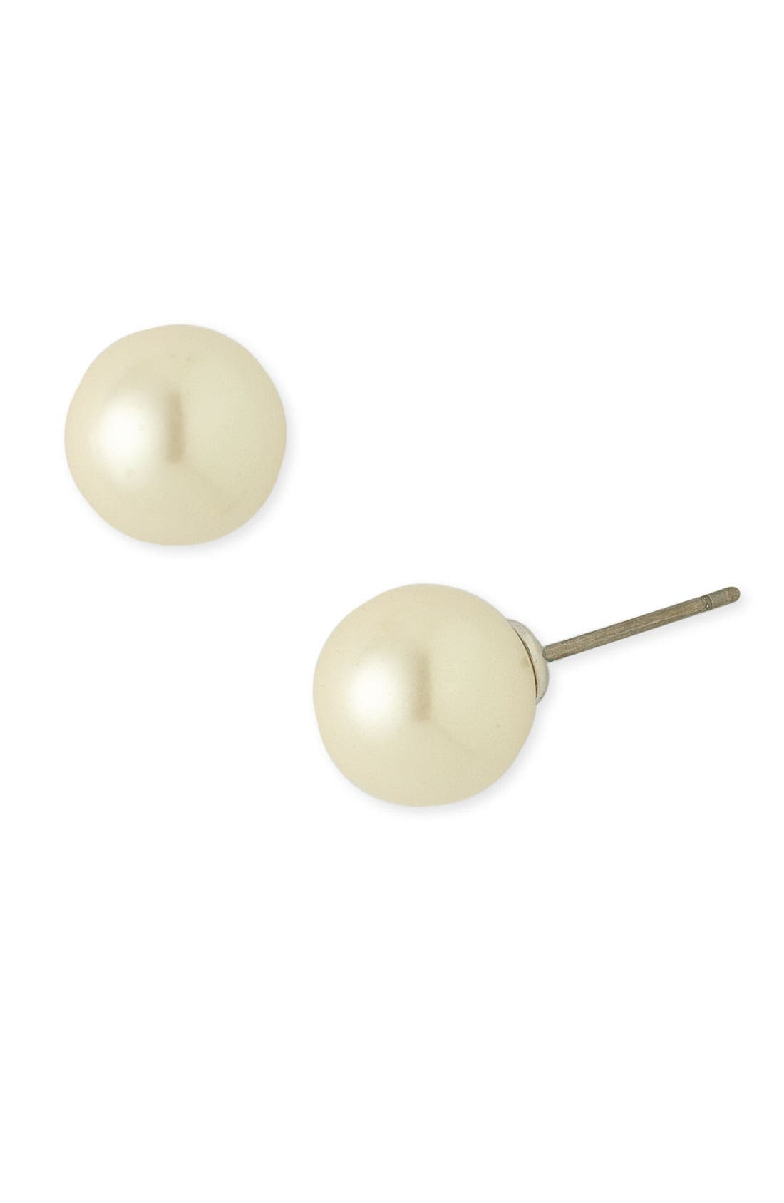 Main Image - Nordstrom 10mm Glass Pearl Stud Earrings