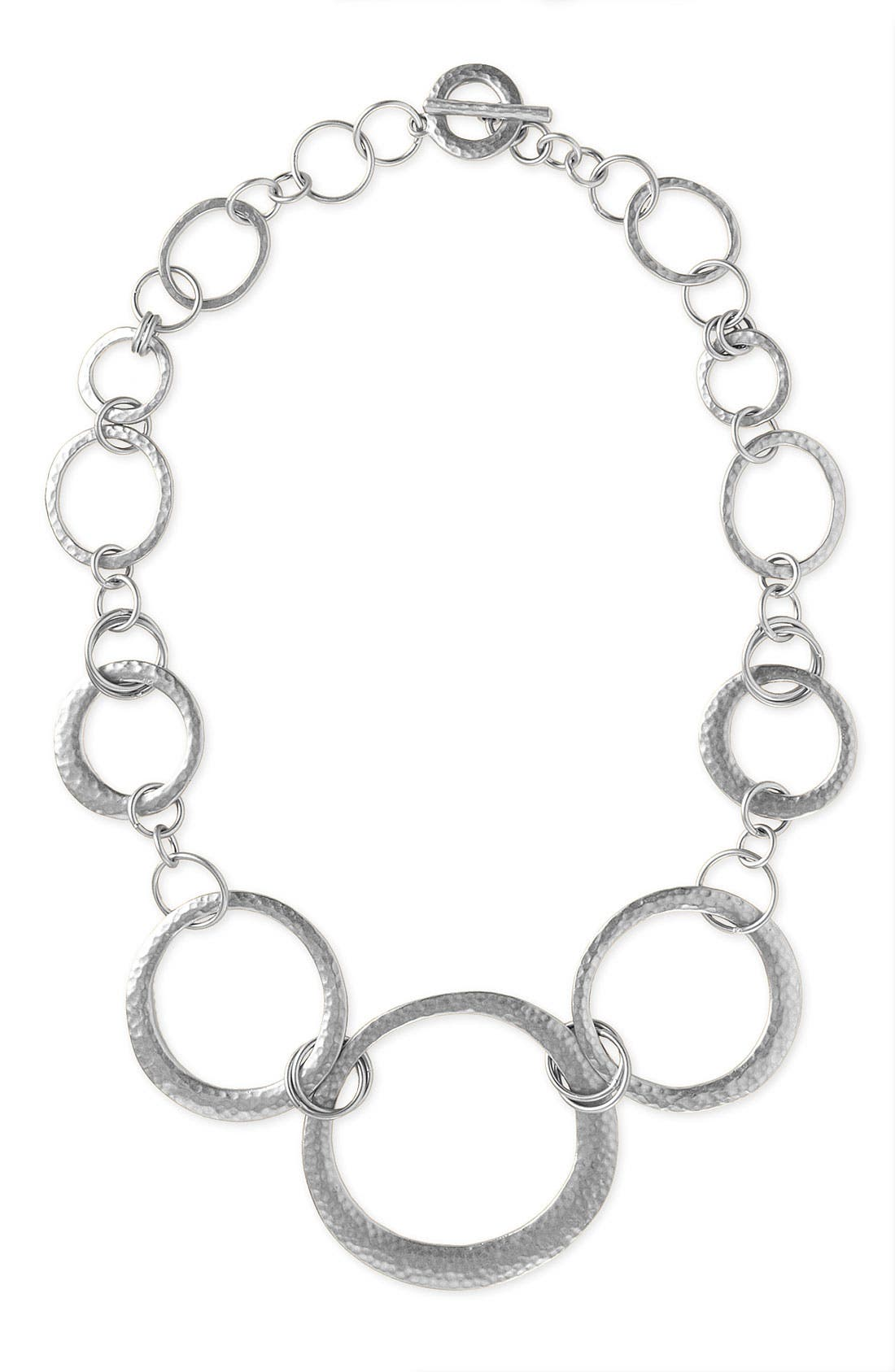 Main Image - Lauren by Ralph Lauren Hammered Circle Necklace
