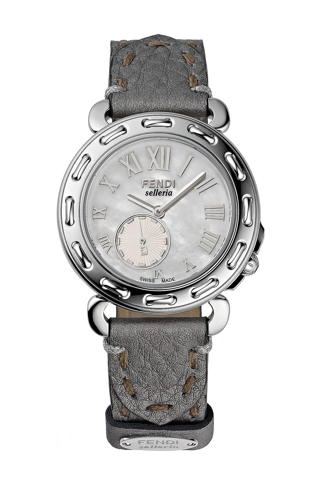 Main Image - Fendi Mother-of-Pearl Customizable Watch