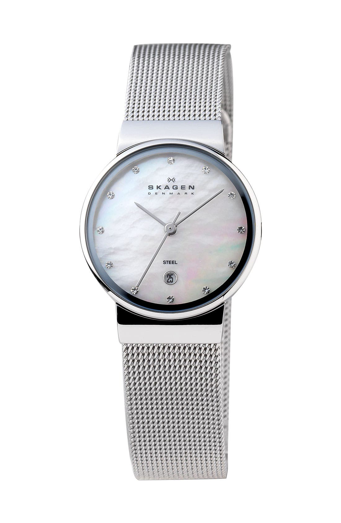 Alternate Image 1 Selected - Skagen Mother-of-Pearl Watch