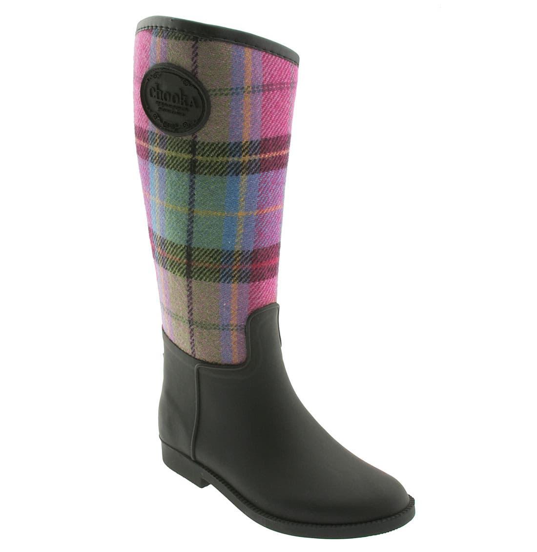 Alternate Image 1 Selected - Chooka Signature Plaid Rain Boot (Women)