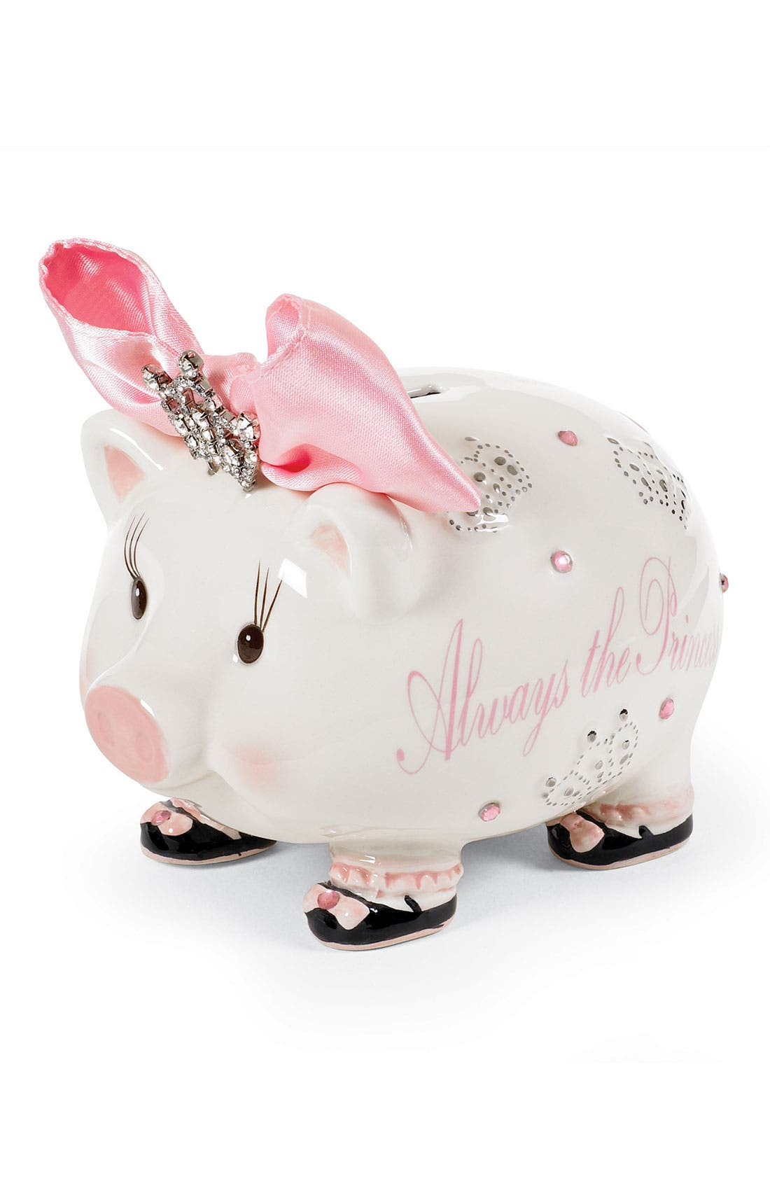 Alternate Image 1 Selected - Mud Pie 'Always the Princess' Jeweled Piggy Bank